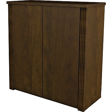 Bestar Prestige+ 2-Door Cabinet for Assembled Lateral, Chocolate