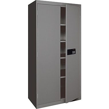 Sandusky Electronic Coded Keyless Cabinets, 72in.H x 36in.W x 18in.D, Charcoal