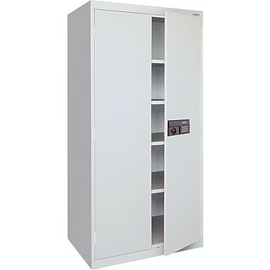 Sandusky Electronic Coded Keyless Cabinets, 72in.H x 36in.W x 18in.D, Dove Gray