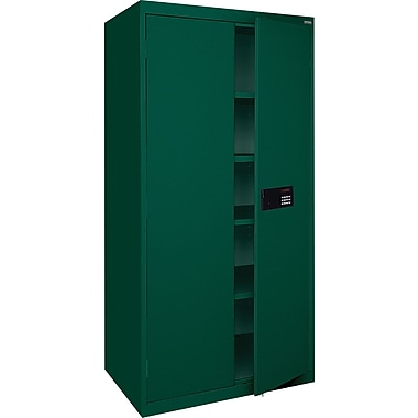 Sandusky Electronic Coded Keyless Cabinets, 72in.H x 36in.W x 18in.D, Forest Green