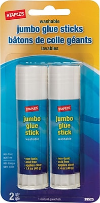 Staples Jumbo Glue Sticks 2 Pack 39525