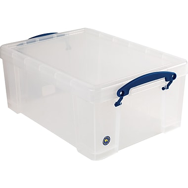 Really Useful Box 9 Liter Box with Snap Down Handles, Clear