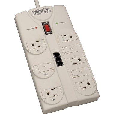 Tripp Lite 8-Outlet 2160 Joule Surge Protector with Dataline Protection