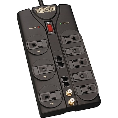 Tripp Lite 8-Outlet 3240 Joule Surge Protector with Ethernet, Coax and Dataline Protection