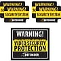 Defender Indoor Security System Warning Sign with 4