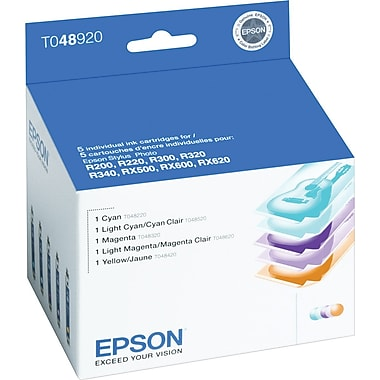 Epson 48 Color Ink Cartridges (T048920), 5/Pack