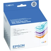 Epson 48 Color C/M/Y/LC/LM Ink Cartridges (T048920), Combo 5/Pack