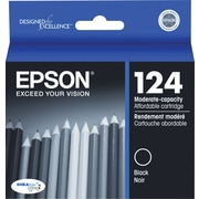 Epson 124 Black Ink Cartridge (T124120), Low Yield