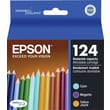 Epson 124 Color Ink Cartridges (T124520), Moderate Yield 3/Pack