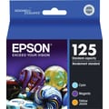 Epson 125 Color Ink Cartridges (T125520), Standard Yield 3/Pack