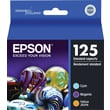 Epson 125 Color C/M/Y Ink Cartridges (T125520), Combo 3/Pack