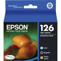 Epson 126 Color Ink Cartridges (T126520), High Yield 3/Pack