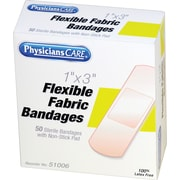 PhysiciansCare® First Aid Refill Fabric Bandages, 1 x 3, 50/Box