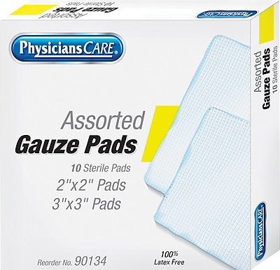 First Aid Only Refill Gauze Pads Assorted Sizes Box of 10 90134