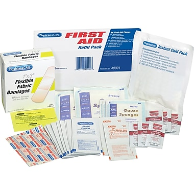 PhysiciansCare First Aid Kit Refill, Contains 96 Pieces