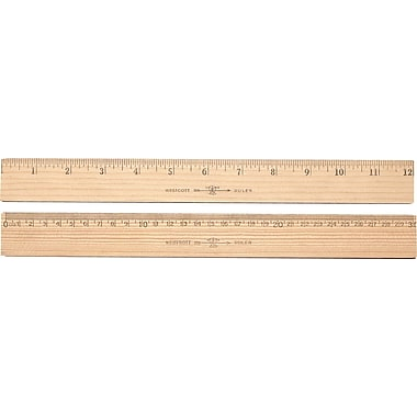 Westcott® Metric Ruler with Metal Edge, 12in.