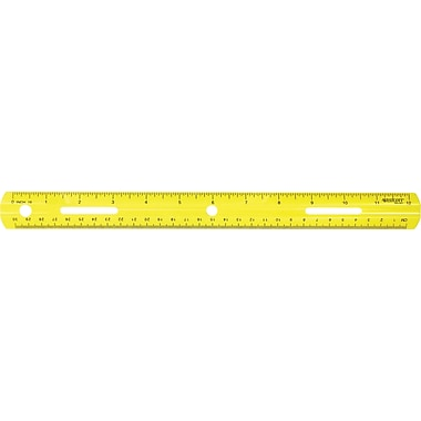 Westcott® 10526 Plastic English and Metric School Ruler, 12in.