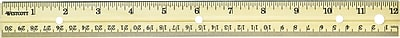 Westcott Wooden 12 Ruler English Metric 10702