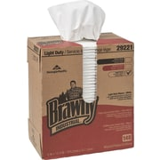 "Brawny Industrial™ Light Duty Multi-purpose Paper Wipers, 2-Ply, White, 8"" X 12 1/2"" , 148 Towels/Box, 20 Boxes/Carton"