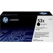 HP 53X Black Toner Cartridge (Q7553X), High Yield