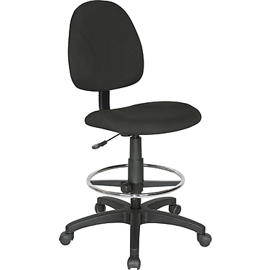 Staples® Armless Drafting Stool, Black