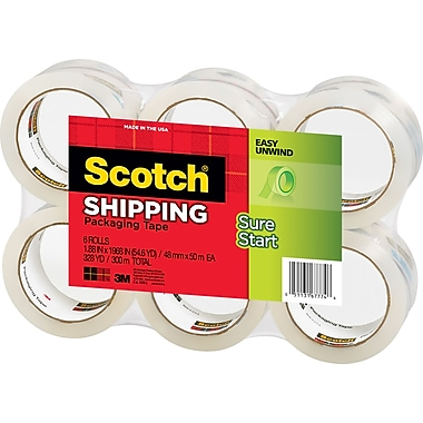 Scotch High-Performance Sure-Start Shipping Packing Tape, 1.88