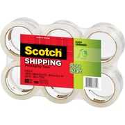 Scotch® High-Performance Sure-Start Packaging Tape, Clear, 1.88 x 54.6 yds, 6 Rolls