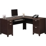 Bush® - Bureau en L de la collection Tuxedo, cerisier mocha