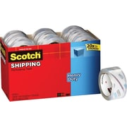 "Scotch Heavy-Duty Packing Tape, 1.88"" x 54.6 yds, Clear, 18/Pack"