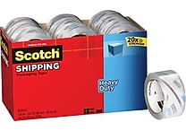 Scotch® Heavy-Duty Packaging Tape, Clear, 1.88' x 54.6 yds, 18 Refill Rolls/Pack