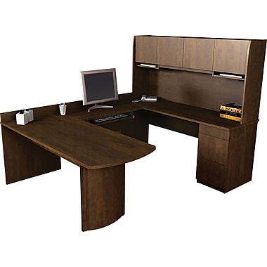 Bestar Executive Collection U-Shape Computer Workstation, Chocolate