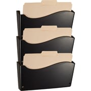 Contemporary Wall Files, Letter Size, Black