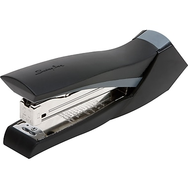 Swingline® SmoothGrip™ Desktop Full Strip Stapler, 20 Sheet Capacity, Black with Gray Accent