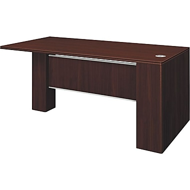 Hon®  Attune Series 72in. Left Peninsula With End Panel, Laminate Modesty, Mahogany