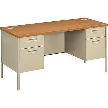 HON Metro Classic 60in. Credenza with Kneespace, Harvest/Putty