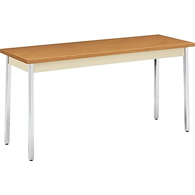 HON 5' Non-Folding Laminate Utility Table, Harvest/Putty, 20in.W