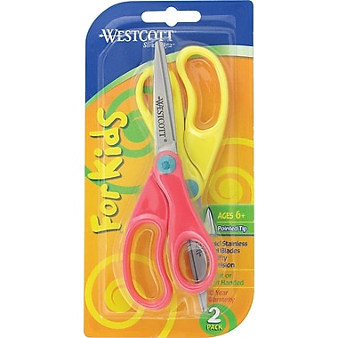 Westscott® 5in. Kids Scissors, Pointed Tip, 2/Pack