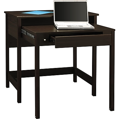 Bush Furniture Brandywine Laptop Desk, Porter Finish, Retractable Secondary Desk surface, Porter (MY72702-03)