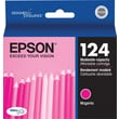 Epson 124 Magenta Ink Cartridge (T124320), Moderate Yield