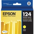 Epson 124 Yellow Ink Cartridge (T124420), Moderate Yield