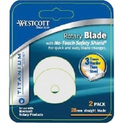 Westcott® Titanium-Bonded® Laptop Rotary Trimmer Replacement Blade, 2/Pack