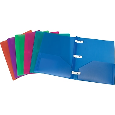 Staples® 100% Recycled Poly Report Cover, Assorted Colours