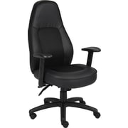 Boss® Leather and Mesh Manager's Chair, Black