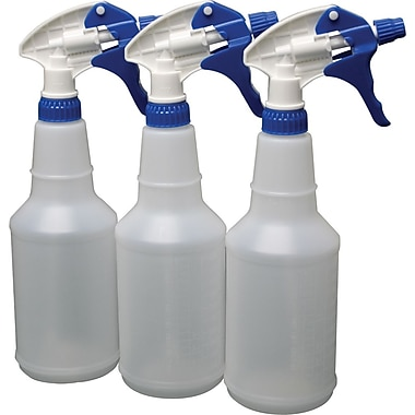 Plastic Spray Bottles, 24 oz., 3/Pack