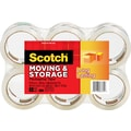 Scotch® Moving and Storage Tape, Clear, 1.88in. x 54.6 yds, 6/Pack