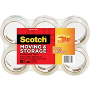 Scotch® Moving and Storage Tape, Clear, 1.88 x 54.6 yds, 6/Pack