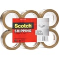 Scotch® Lightweight Packaging Tape, Tan, 1.88in. x 54.6 yds., 6/Pack