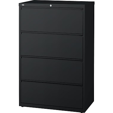 Staples® HL8000 Commercial 30in. Wide 4-Drawer Lateral File Cabinet, Black