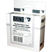 "DYMO Rhino Labeling Tape, Industrial Strength, Nylon, Easy to Peel, Thermal Printing, 1/2""x11-1/2', Black on White"