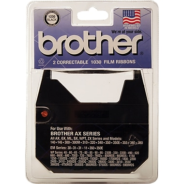 Brother 1230 Correctable Film Ribbon, Black, 1/pk